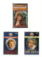 3 DOCTOR WHO AUDIOBOOKS/ATTACK OF THE CYBERMEN/WARRIORS OF DEEP/STATE OF DECAY