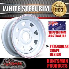 15 x 6 Sunraysia Wheel Rim White suits Ford Stud Pattern Trailer Caravan Boat