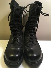 Corcoran Men's Military Paratrooper Combat Boots Black Leather Canvas Size 11 EE