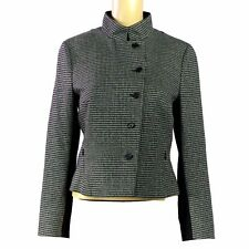 AKRIS PUNTO  Fitted Jacket Blazer US/ 4 Wool Gray Black Hounds Tooth