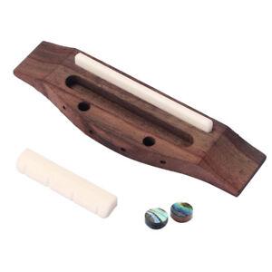 Ukulele Bridge Set Cattle Bone & Saddle Nut & Shell Dot for 4 String Guitars