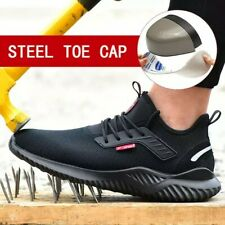 LIGHTWEIGHT MENS STEEL TOE CAP TRAINERS SAFETY WORK BOOTS HIKING UK SIZE 10