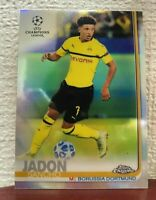 2018 Topps Chrome Refractor Soccer #86 Jadon Sancho RC Rookie