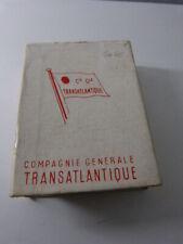 jeu de 52 cartes french line ,france , compagnie générale transatlantique (cp10)