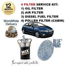 Pour HONDA Civic 2.2 CDTI 2006 - & GT service set Huile Air Carburant Pollen Filtres Kit