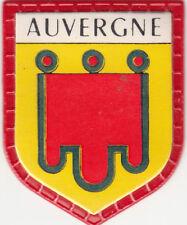 AUVERGNE FRANCE DRAPEAU BLASON FLAG ECUSSON PUBLICITAIRE ANNEES 60s