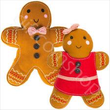 Sass & Belle Christmas Gingerbread Man Girl Cushion Throw Pillow Home Decor Gift