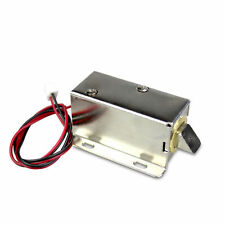 Slim Security Electric Lock Assembly Solenoid Lock Tongue For Door Drawer DC 12V