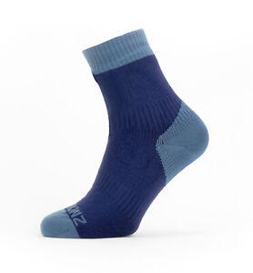 SealSkinz Waterproof Warm Weather Ankle Length Socks - Navy Blue