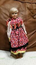 Dutch Doll vinyl blonde hair blue eyes complete ethnic costume dressed New toy