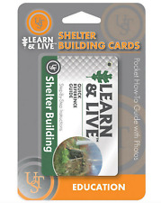 Ultimate Survival Technologies Ust Learn & Live Shelter Building Education Cards