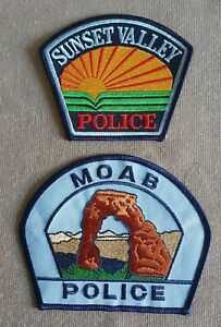 USA - 2 x Different Police Patches - Utah #5