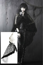 Cape jupe tournure gothique lolita baroque dentelle cuir fourrure mode Punkrave