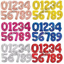 """34"""" Giant Foil Number Large Helium or Air Balloons Happy Birthday Party Gifts"""