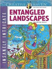 ADULT COLORING BOOK ~ ENTANGLED LANDSCAPES ~ INSANELY INTRICATE