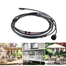 Outdoor Misting System Fan Garden Patio Pool Mister Water Cooling Mist Cooler 3M