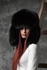 Black Fox  huge full fur winter trapper hat.Saga Furs .