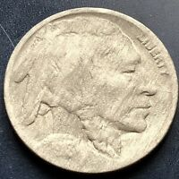 1918 over 7 D Buffalo Nickel Key Date 5c 1918/7 RARE Overdate VF Details #11726