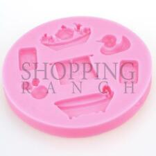 BABY Shower NEONATO stampo in silicone Bathtime CUPCAKE CAKE TOPPER DECORAZIONE STAMPO