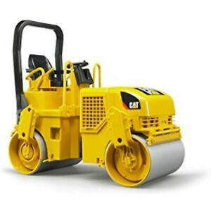 NEW Bruder 02434 Toy Construction Realistic CAT Asphalt Drum Compactor Vehicle
