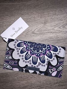 NWT Vera Bradley Mimosa Medallion Checkbook Cover Purple Gray Exact