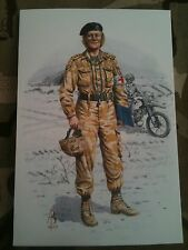 Military Postcard Medical Officer RAMC Royal Army Medical Corps by Alix Baker