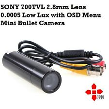 700TVL 2.8mm Starlight Mini Bullet CCTV Security Camera 0.0005Lux Sense-up x512