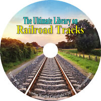 12 Books on CD, Ultimate Library on Railroad Tracks, Track Work Construction