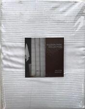 Hudson Park Collection-Woven Pleat Shower Curtain White NIP