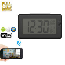 HD 1080P WIFI SPY Nanny Clock Camera Night Vision Motion Detection Hidden Cam DV