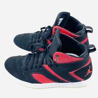 Nike Air Jordan High Top Flights Legend Black/ Gym Red Men's Size 9 AA2526-006