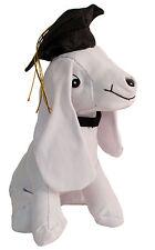 "US Toy Graduation Grad Cap Signature Autograph Dog 9.5"" Plush Animal, White"