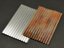 DioDump DD058 Corrugated Aluminium Sheets 8 x - scale 1:48 - 1:35 dio materials