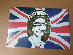 Sex Pistols God Save The Queen Metal Sign Plaque Poster British Punk Rock