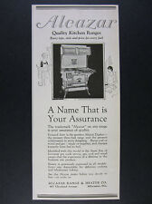1924 Alcazar Duplex Kitchen Range coal gas or wood oven stove vintage print Ad
