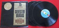 """MARIACHI SILVESTRE VARGAS """"El Primer del Mundo - 75 Aniversario"""" RARE 3 LP Set"""