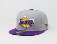 New Era 9Fifty Cap NBA Los Angeles Lakers Hat Mens Team Snapback Gray Purple 950