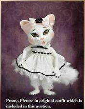 "EVANGELINE GHASTLY PET BJD VALENTINE IN ORIGINAL BOX & EXTRA DRESS 5"" BJD"