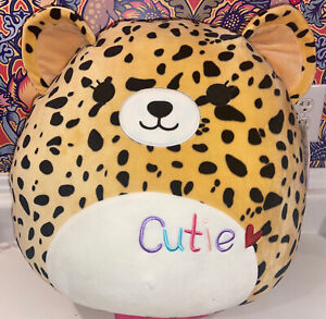 """Lexie Cheetah Squishmallow Plush With Cutie Embroidered, 16"""""""