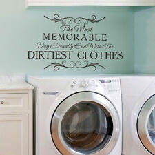 Laundry Room Wall Decal the Most Memorable Inspired Quote Vinyl Mural Art Decor