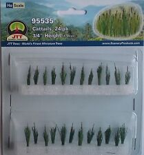 JTT Scenery Products - Cattails (Pack of 24) for 00/HO Model Railway