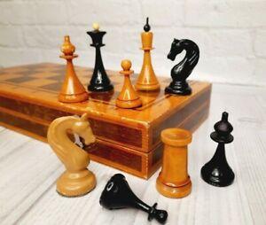 Wooden Chess USSR Full Set Grossmeister Vintage Soviet Chess 30 X30cm