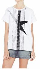 Cotton Blend Embellished Tee Hand-wash Only T-Shirts for Women