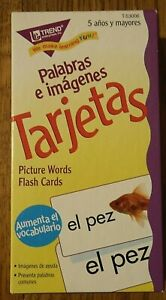 Palabras e Imagenes Tarjetas Picture Words Flash Cards Trend Enterprises T-53006