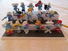 2011 MCDONALDS Smurfs Figures SET LOT of 16 TOYS PEYO SMURF MOVIE SMURFETTE