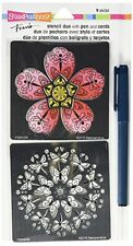 Stampendous! Fran's Blossom Duo Stencil Set FMSD103 -#995 -NEW!!