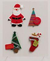 MIC Pack of Santa/Stocking/Trees Christmas Embellishments