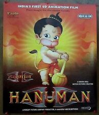 "India Bollywood 2005 Hanuman Animation Movie 20""x 25"" Original release poster"