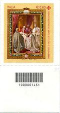 2011 francobollo Ordine Equestre del Santo Sepolcro DX CON CODICE A BARRE 1431