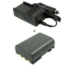 Battery+Charger for Canon Digital Camera EOS-400D 350D MD205 MD235 Mini DV Cam